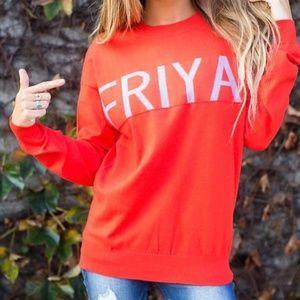 NWT Umgee Friyay Friday Pullover Sweater